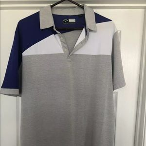 Callaway Golf polo shirt purple gray and white xl